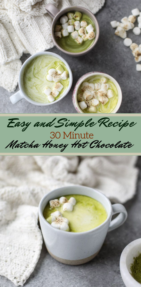 Matcha Honey Hot Chocolate #healthydrink #easyrecipe #cocktail #smoothie