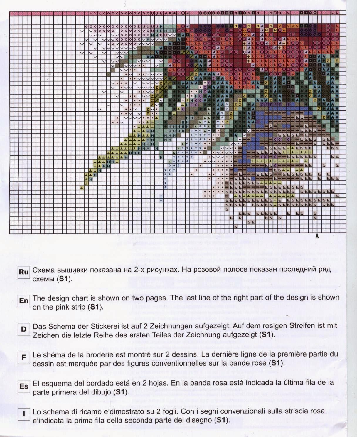 схема для вышивки акварельные тюльпаны