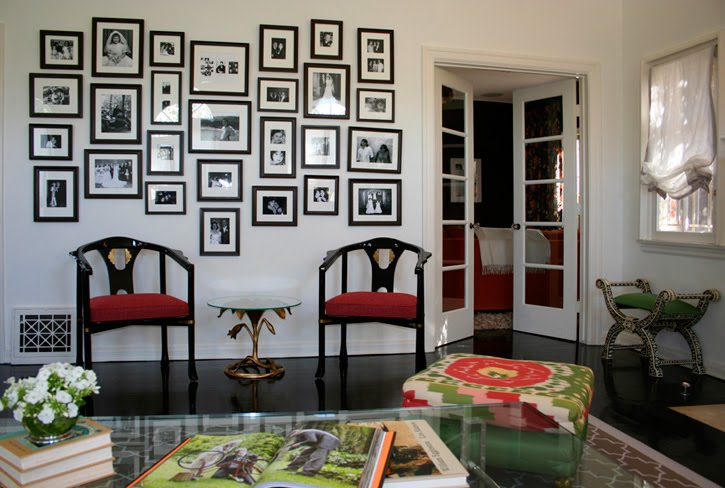 Little cove design frame your blank wall collage of frames - Wall collage ideas living room ...
