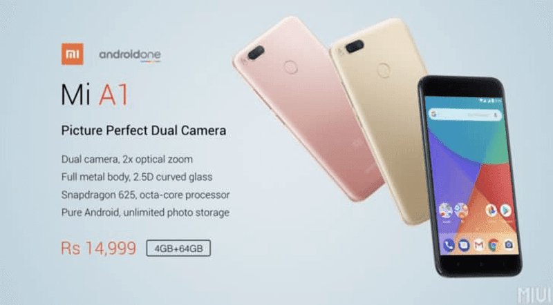0111912f3 Xiaomi Mi A1 Now Official