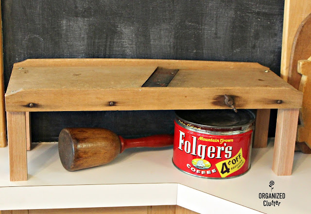 Adding LEGS to a Vintage Slaw Cutter/Repurposed Farmhouse Shelf