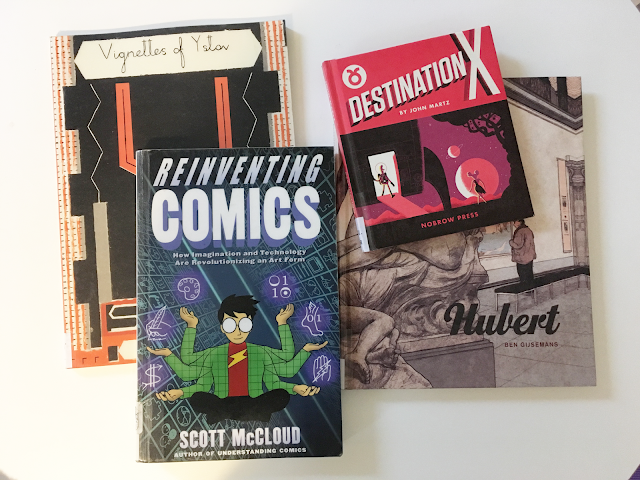 Library comic and graphic novel book haul: William Goldsmith, Russ Kick, Ben Gijsemans, Scott McCloud, and John Martz