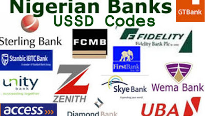Ussd codes banks Nigeria mobile phone airtime money transfer