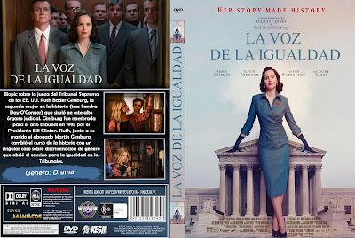 CARATULA LA VOZ DE LA IGUALDAD - ON THE BASIS OF SEX - 2018 [COVER DVD]