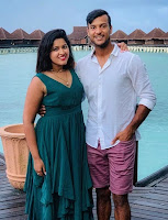 Mayank Agarwal with here wife