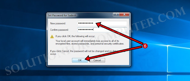 Set user password in windows