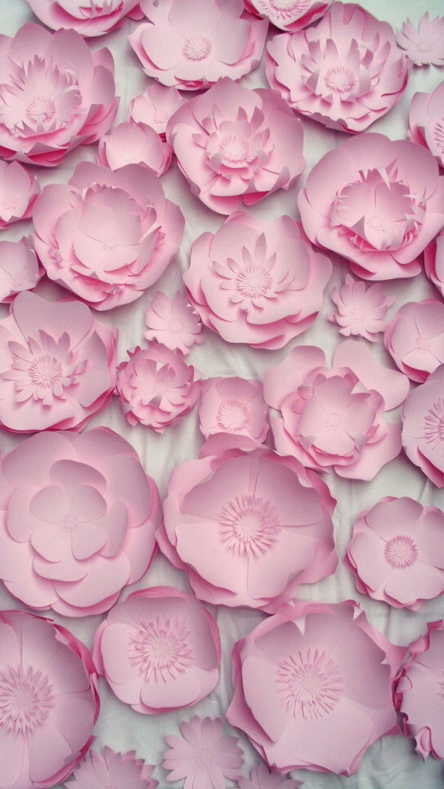 pink flowers statement wall