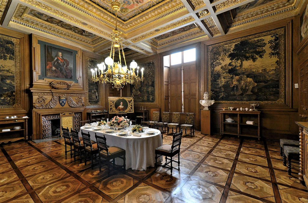 Peintures des mus es de france ch teau d 39 eu for Salle a manger en pierre