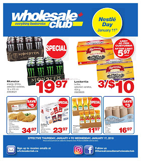Wholesale Club weekly flyer January 5 - 18, 2018
