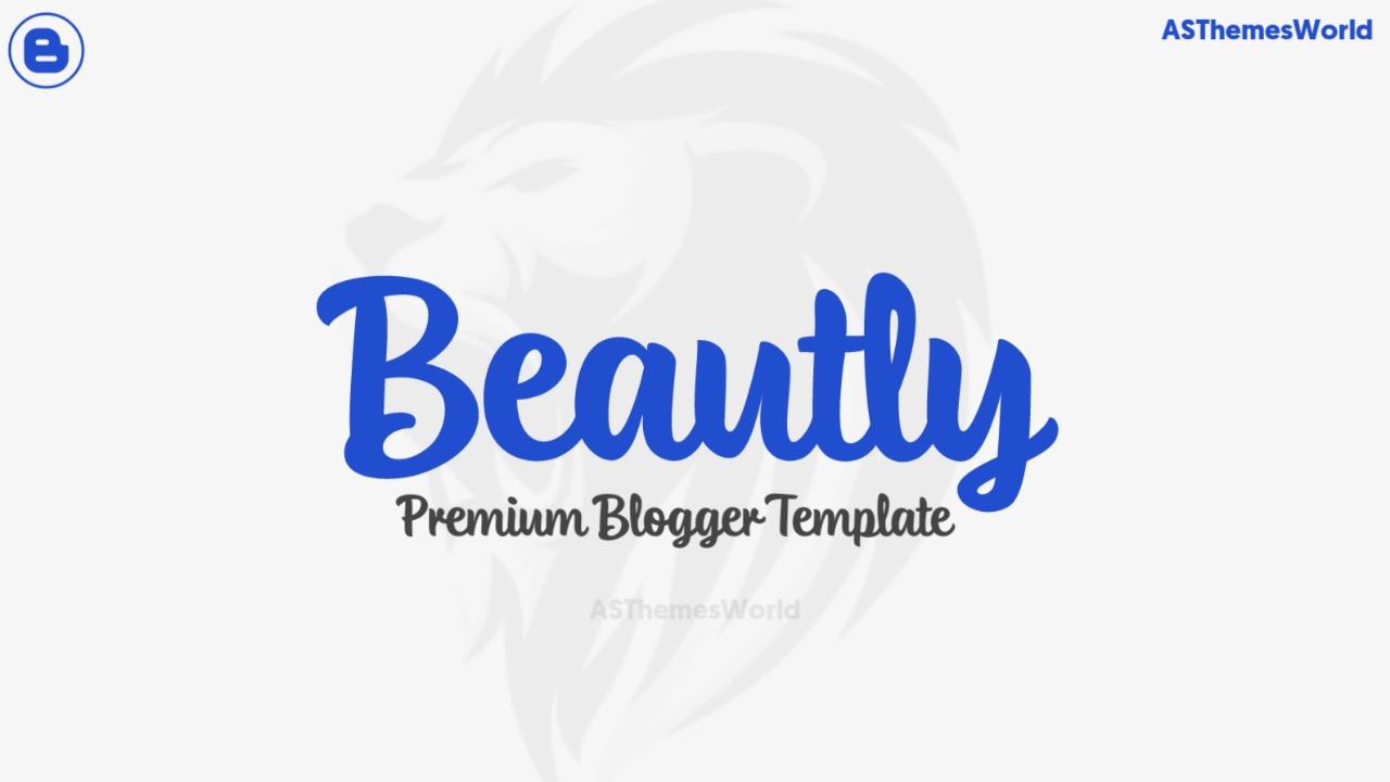 Fancy Premium Blogger Template Free Download