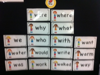 """W"" words on word wall"