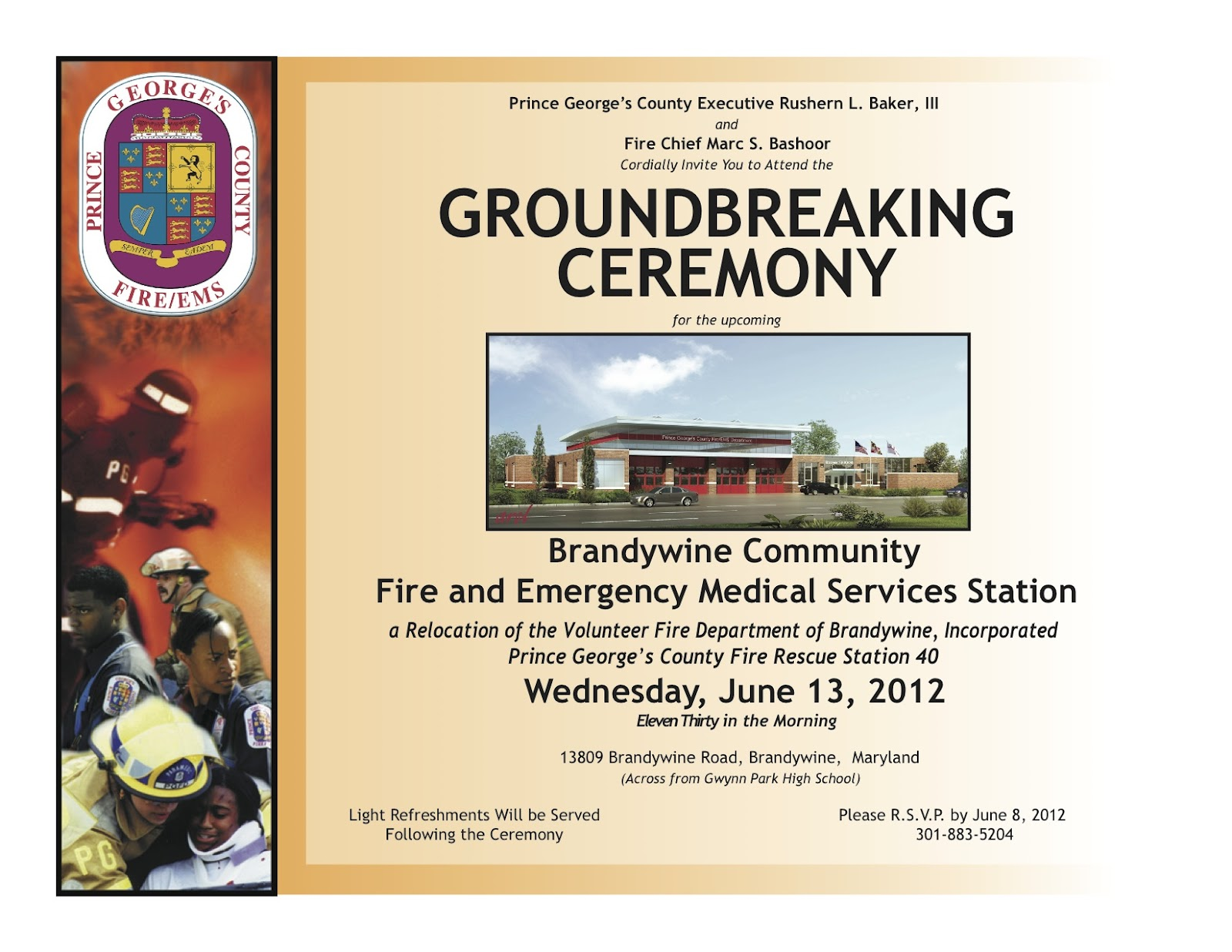 Prince Georges County FireEMS Department Groundbreaking