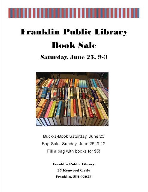 Library book sale 6/25 - 26 at 25 Kenwood Circle