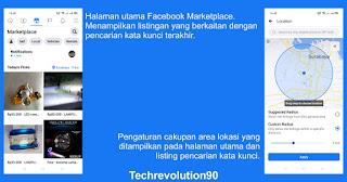Halaman Utama Listing dan Lokasi Radius Pencarian Facebook Marketplace
