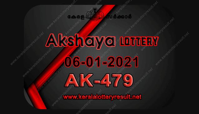 Kerala Lottery Result 06-12-2021 Akshaya AK-479 Lottery Result