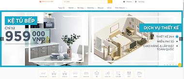 Thiết kế website bán nội thất đẹp giá rẻ