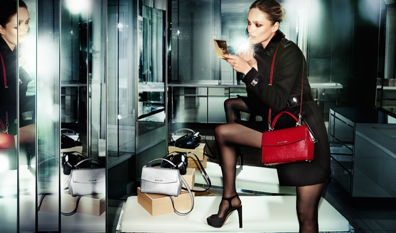 Michael Kors Holiday 2015 Accessories Campaign featuring Karmen Pedaru