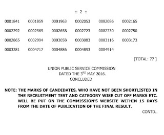 UPSC+Asst+Architect+CPWD+Results+2