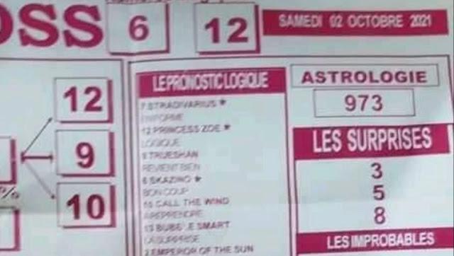 Pronostics quinté pmu samedi Paris-Turf TV-100 % 02/10/2021
