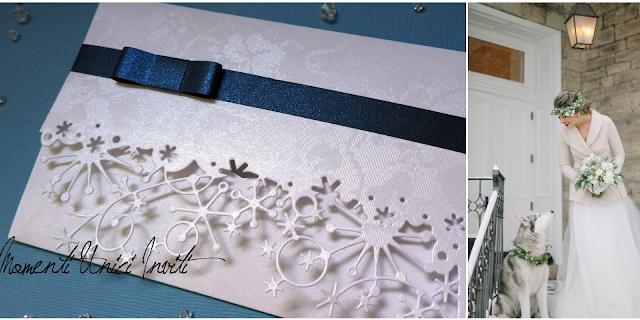 013 Matrimonio d'inverno... le nostre proposte per i vostri inviti!Colore Bianco Colore Blu cover libretti Nozze d'Inverno Partecipazioni intagliate