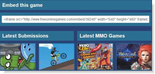 Código HTML do jogo