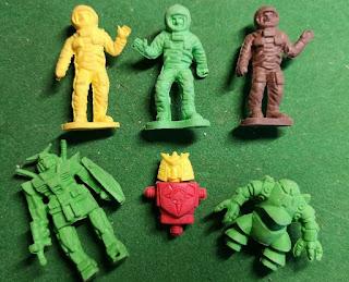 Astronauts; Carded Novelty; Eraser Robots; Famus Corp; Macrobots; Made in Hong Kong; Made in Japan; Novelty Erasers; Novelty Figurines; Novelty Stationary; Pencil Rubbers; Pencil Top Erasers; Pencil Toppers; Pencil Tops; Robot Eraser Set; Rubber Erasers; Small Scale World; smallscaleworld.blogspot.com; Space Novelties; Spacemen;
