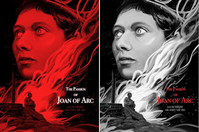 The Passion of Joan of Arc Screen Print by Zi Xu x Mondo x Black Dragon Press