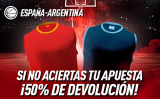sportium promo final mundobasket 2019 España vs Argentina 15-9-2019