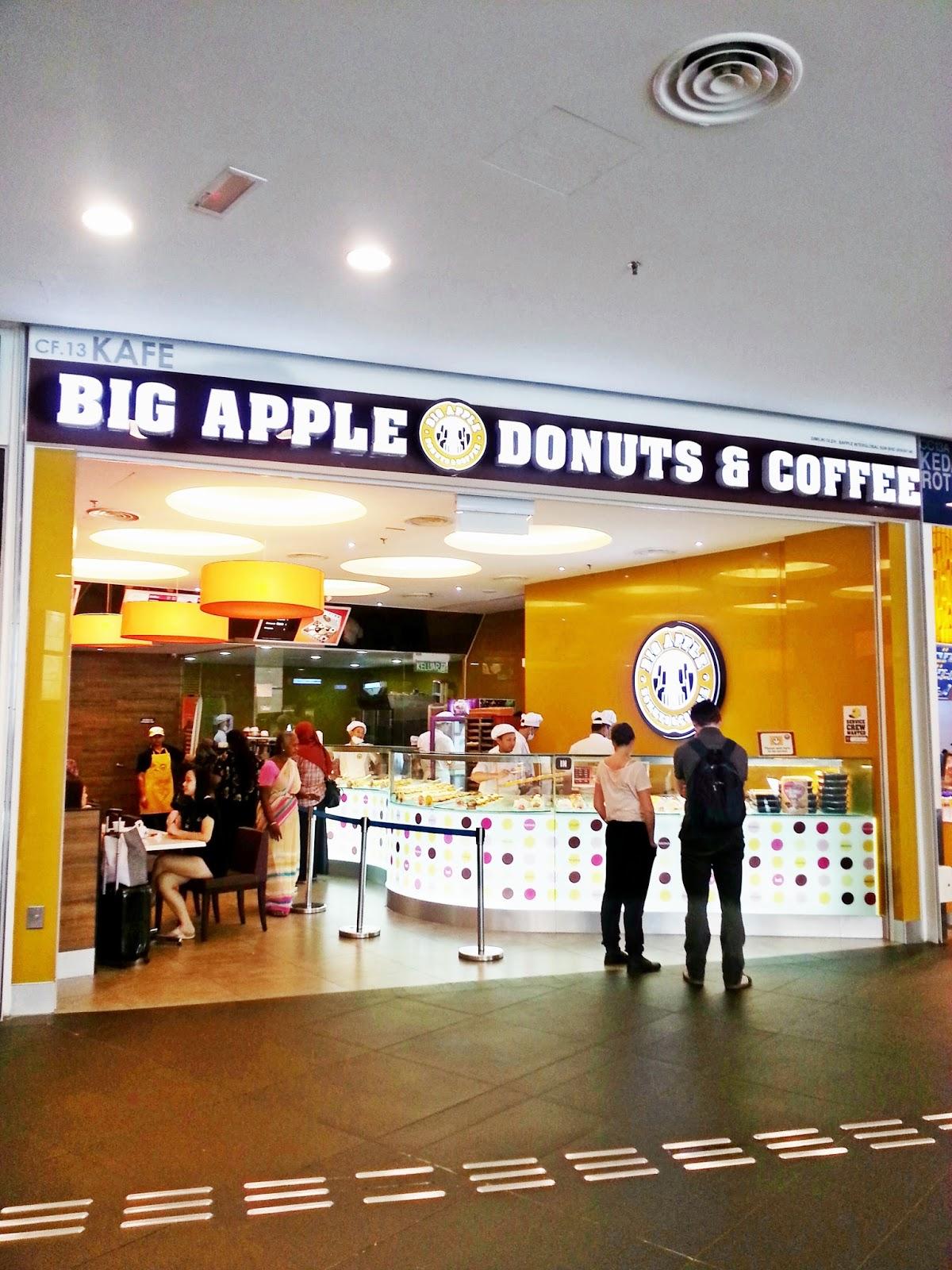 Big apple donut coffee