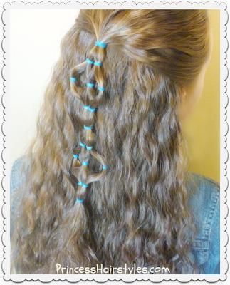 Elastic design half-up hairstyle, video tutorial