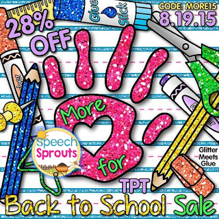 One Day Only at Speech Sprouts! www.speechsproutstherapy.com