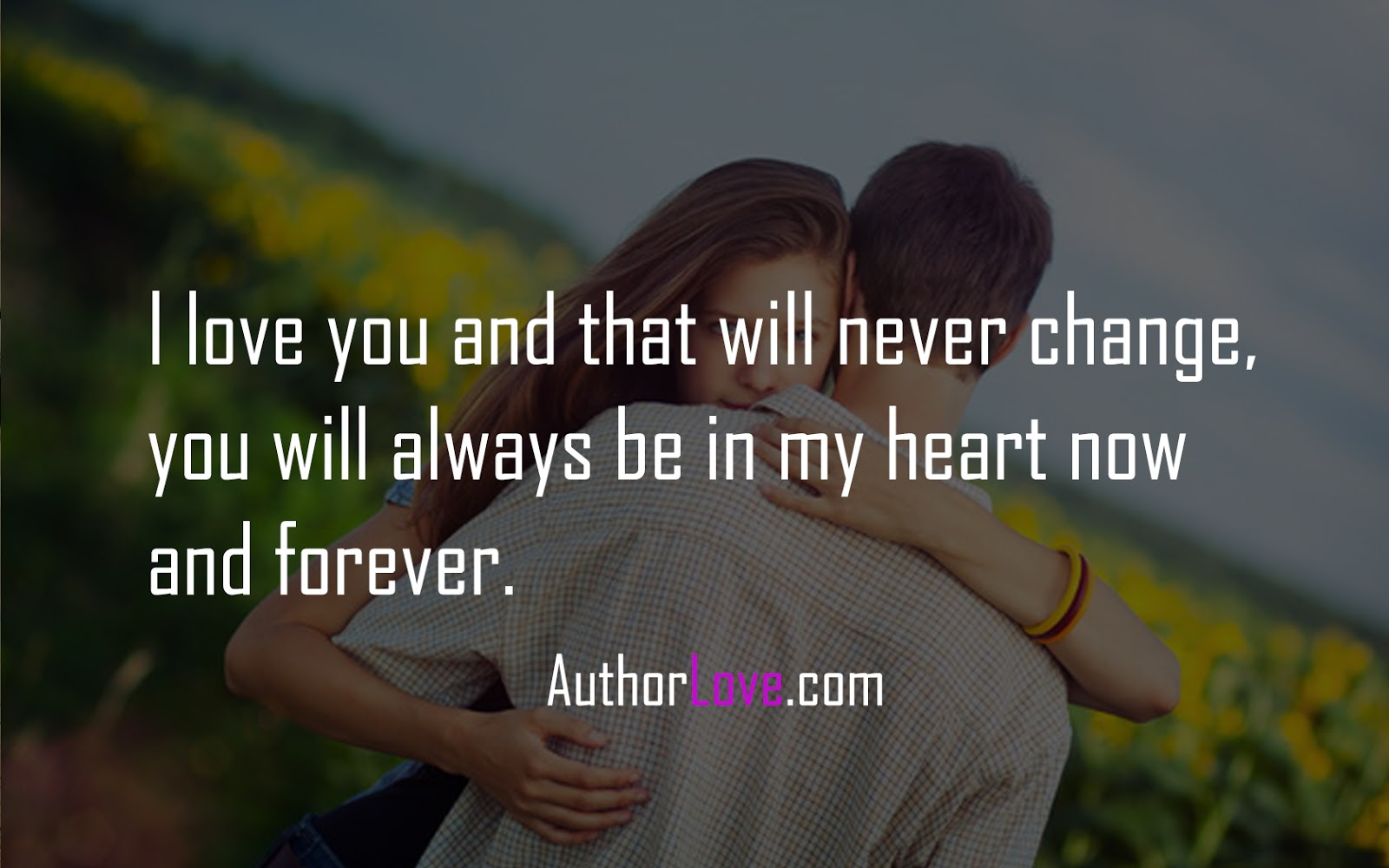 Romantic I Love You Quotes I Love You And That Will Never Change  Love Quotes  Author Love