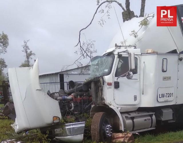 Camión chocado