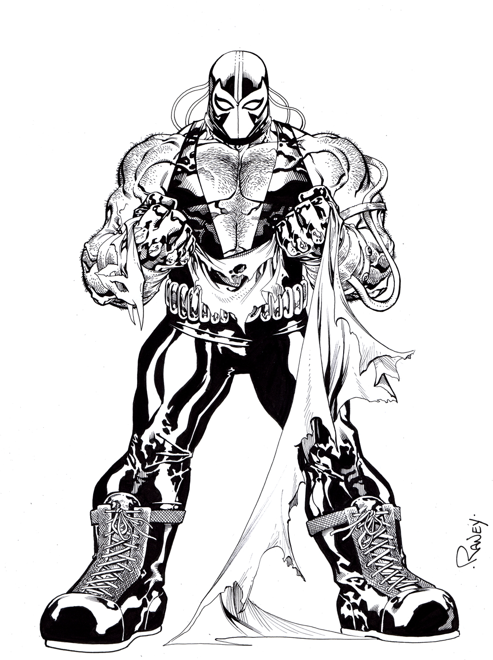 bane coloring page - how to draw bane coloring