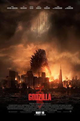 Póster película Godzilla - 2014