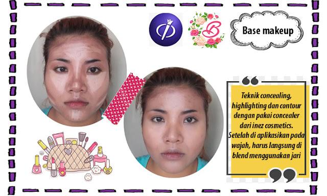 base makeup pakai concealer