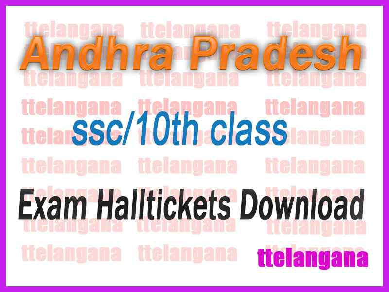 Andhra Pradesh SSC Hall Ticket AP 10th Class Hall Tickets Download