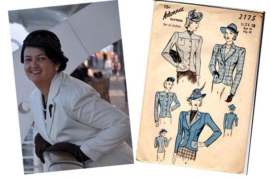 Lady by Choice vintage 30s jacket pattern