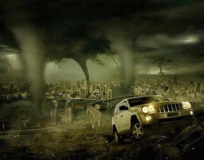 Fotomontaje publicidad jeep