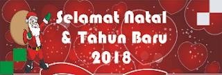 Download spanduk natal 2017 dan tahun 2018 format cdr