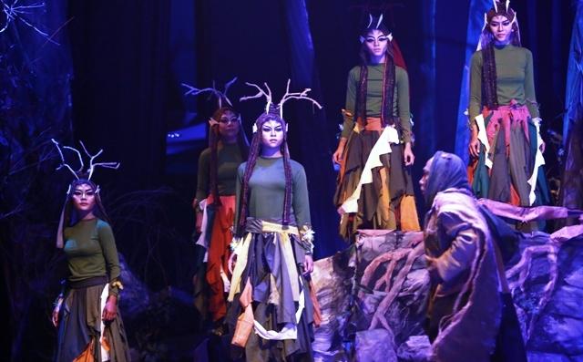 Ilustrasi pertunjukan teater, teater satu Antropodipus