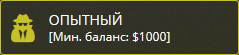 Опытный – Минимальный баланс $ 1 000