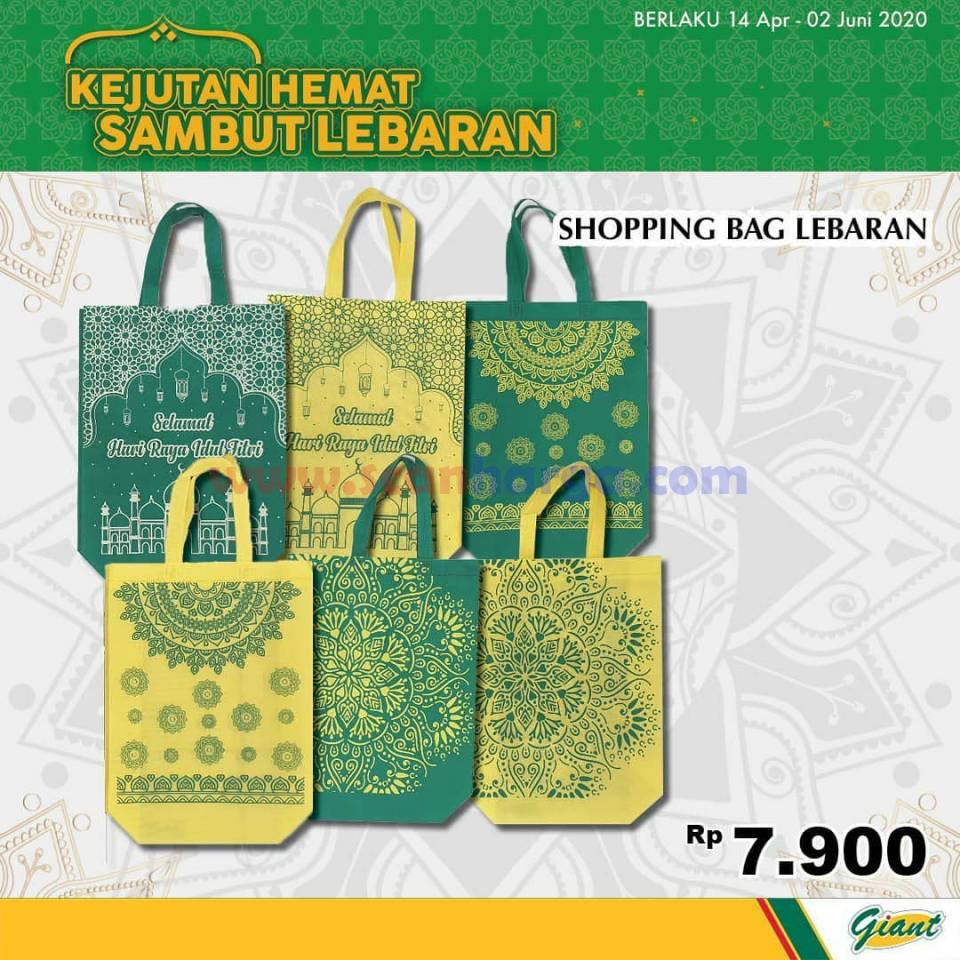 Promo Giant Shopping Bag Lebaran periode 14 April - 2 Juni 2020