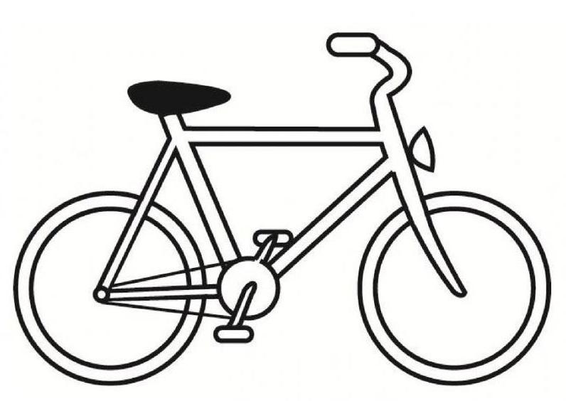 Hình tô màu xe đạp đua