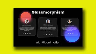 Profile Card with Glassmorphism and Tilt Animation
