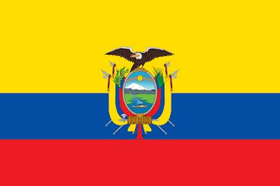 Logo Gambar Bendera Negara Ekuador PNG JPG ukuran 400 px