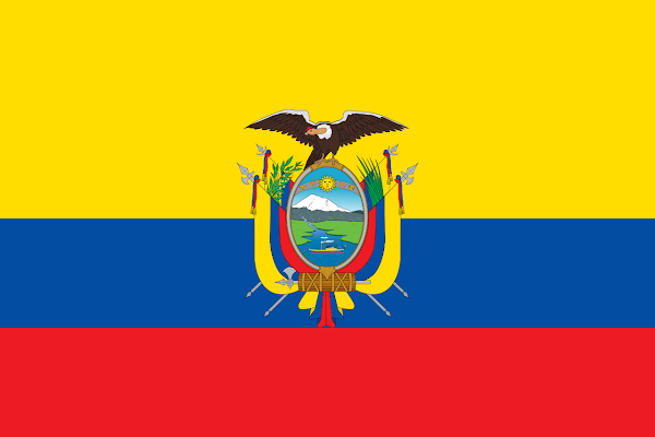 Logo Gambar Bendera Negara Ekuador PNG JPG ukuran 600 px