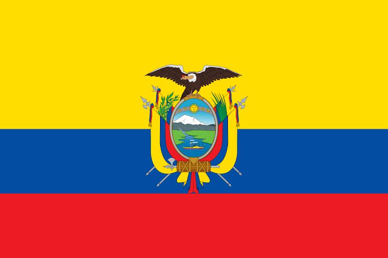 Logo Gambar Bendera Negara Ekuador PNG JPG ukuran 800 px