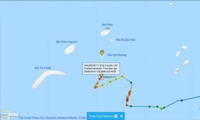 Hai tàu hải cảnh Trung Quốc vừa xâm phạm thềm lục địa phía nam Việt Nam