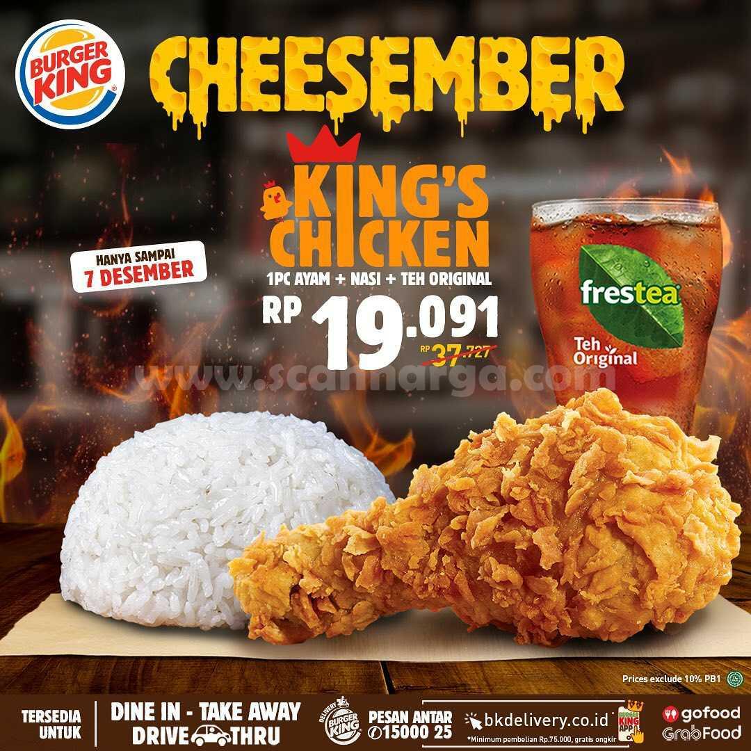 Burger King Promo Cheesember harga mulai Rp 19.091**